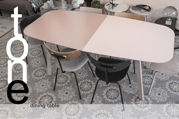 open dining table metal