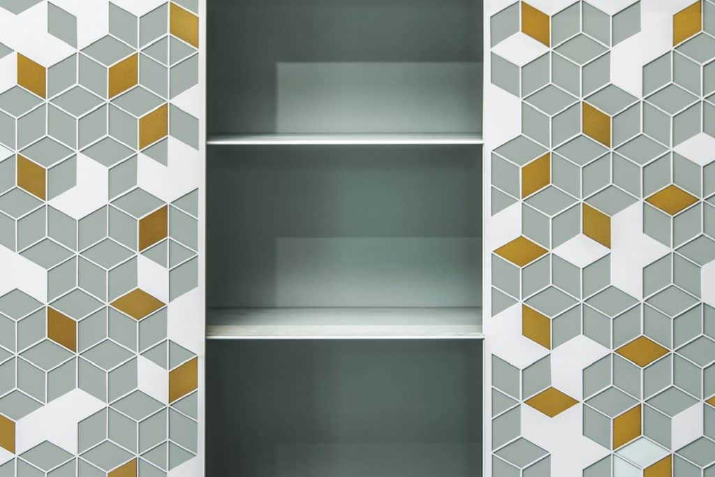 metal cabinet laser cut shelving unit