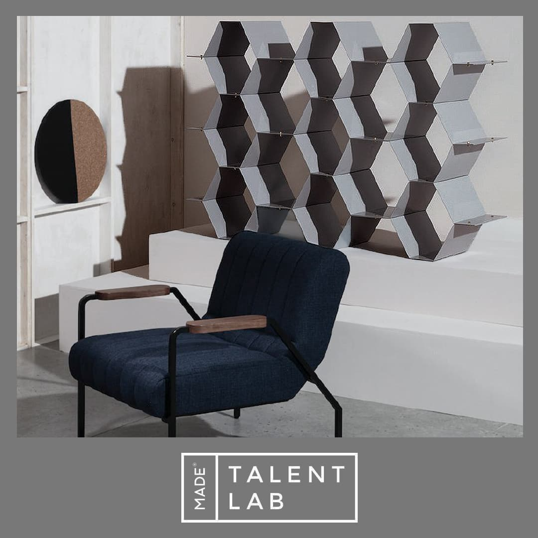 made.com Talentlab shelving unit metal grey