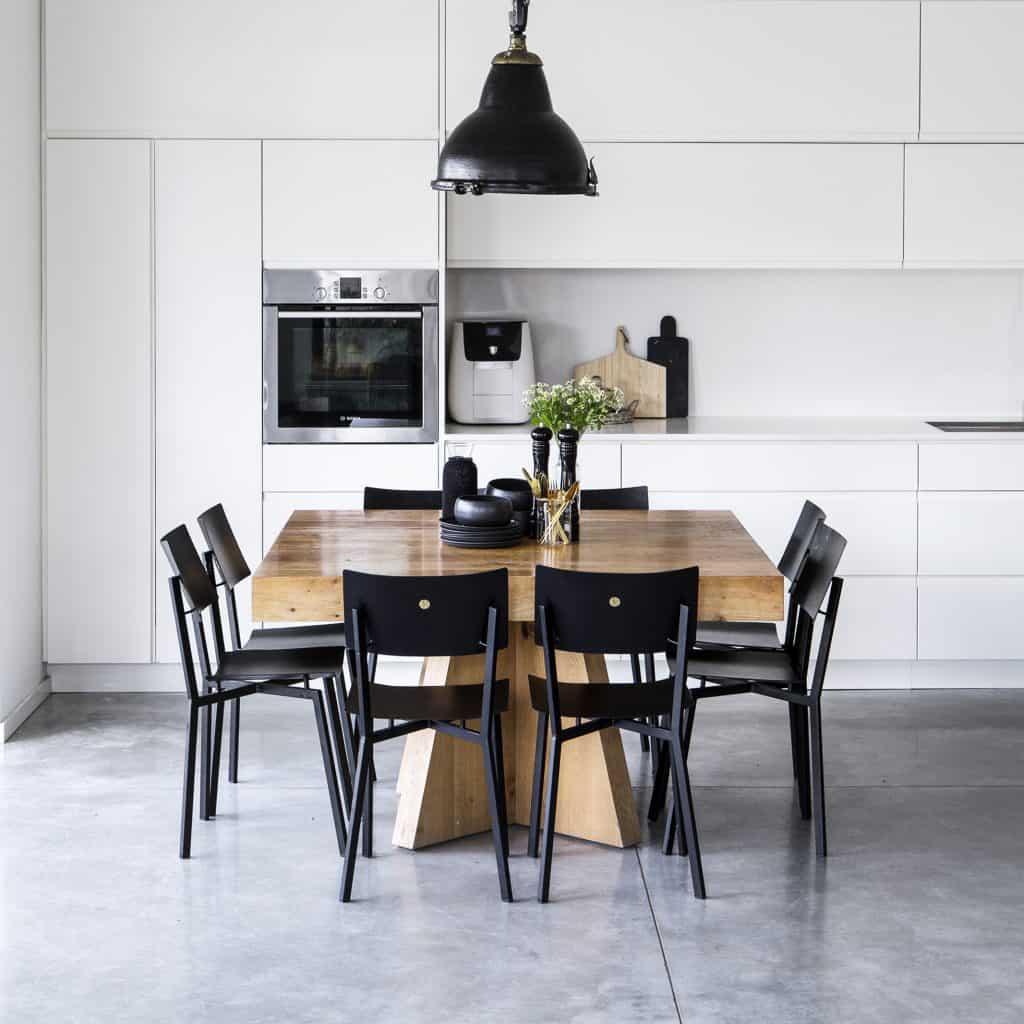 כסא נורדי אורבני שחור מתכת פינת אוכל חדר עבודה