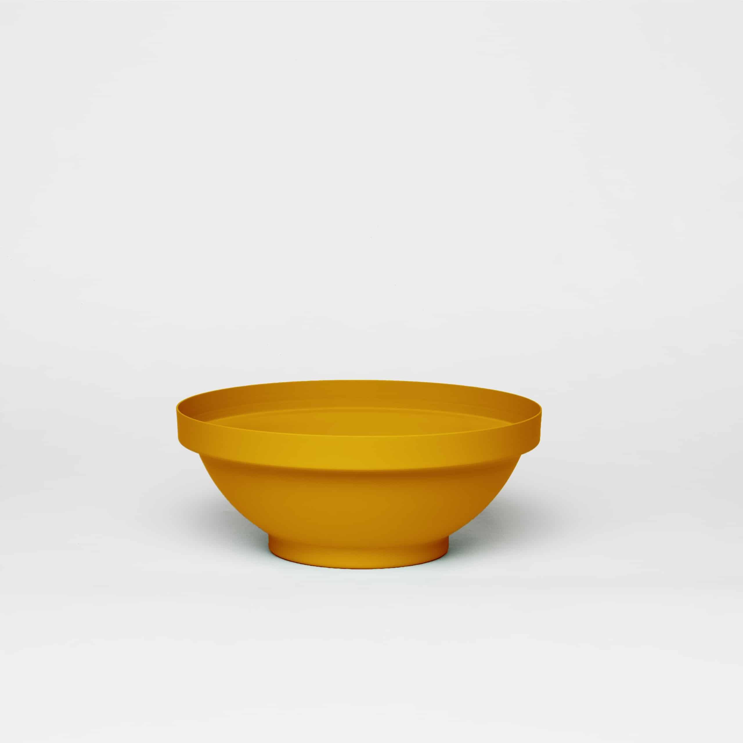 כדים כדי מתכת בצבע חרדל צהוב