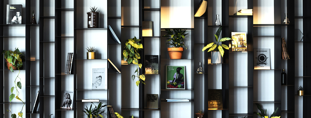 וורודה שחורה צבעונית ספרית מתכת דקיקה פחים